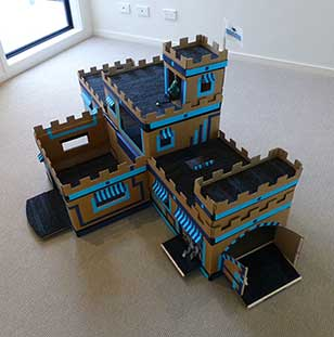 cardboard castle guinea pig toy